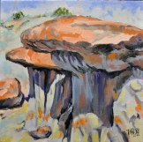 Bandlands Cap Rock—TRNP, Oil, 12x12